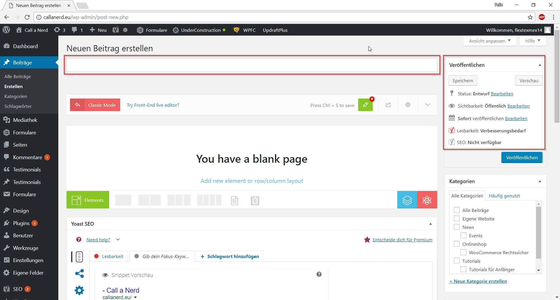 Wie Erstelle Ich Eine Website wie erstelle ich eine seite oder einen beitrag call a