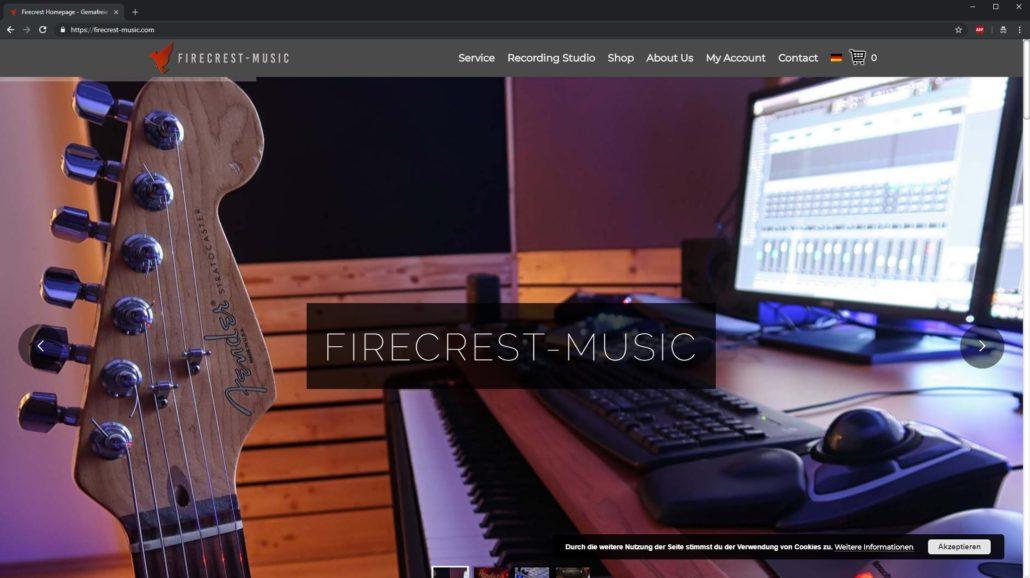 Firecrest Onlineshop Mit Slidern Und Konfigurator